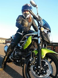 Me on Jasper, my Suzuki SFV 650 Gladius