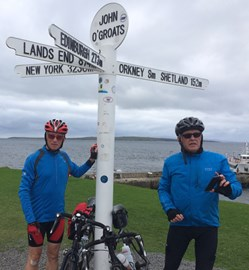 Forgot to upload a picture of us arriving at John O'Groats! Here's Pete & I happy to have arrived  safely