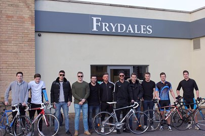 Most of the boys outside our starting point!