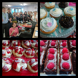 The York office bakers eating their way through lots of cake!!!
