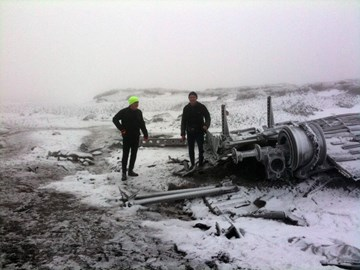 Wreck of B29 Bleaklow Sunday 31st
