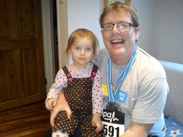 John and Audra after the 2010 run