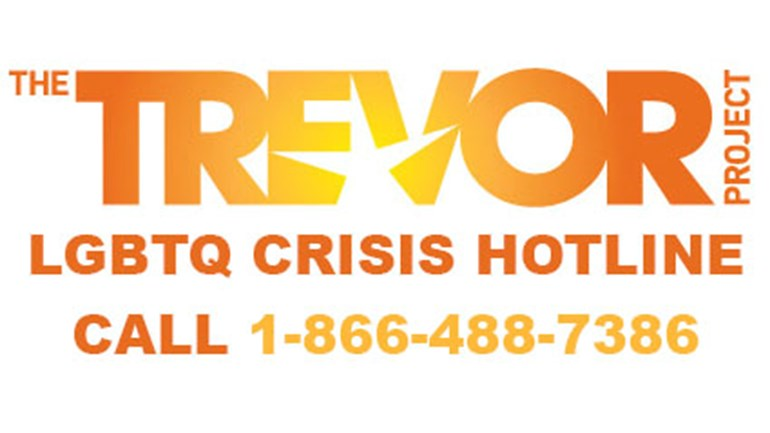 Image result for trevor project hotline