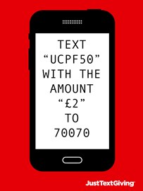 Text UCPF50 with the amount to 70070 to donate!