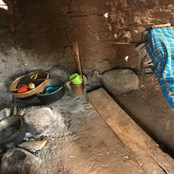 Salesio's hut - where he sleeps and cooks...