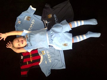 Marley with he's Manchester City Tops