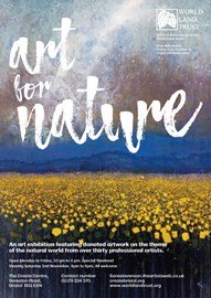 Poster/invite for ART FOR NATURE exhibition
