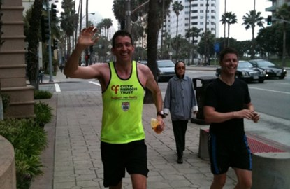 Olly Gavin running in California!