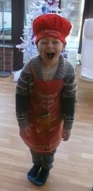 Alfie as Santa's Helper 2013