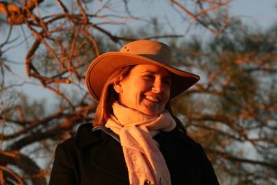 Mum at Uluru