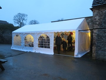 A grant helped this community buy marquees to use