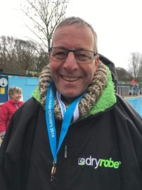 taking a medal at the jan 2019 UK cold Water Champs. brrr