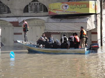 Gaza underwater. 15th December 2013