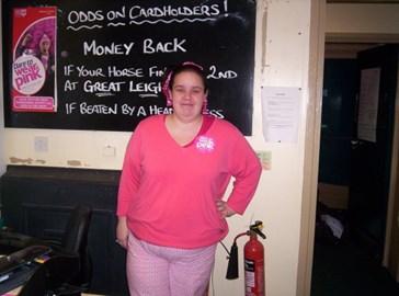 Wearing Pink PJ's to raise money 2007
