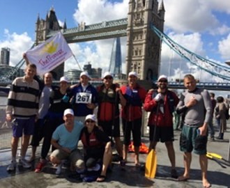 Our unofficial 'finish' at Tower Bridge