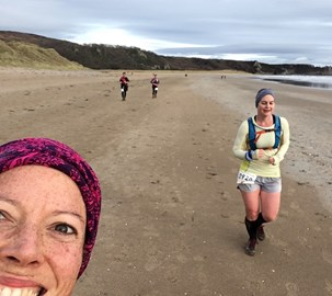 Our preparation: a coastal marathon in the Gower