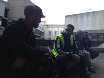Brothers engaging with the Homeless