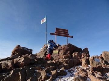 Reaching Point Lenana at 4985m