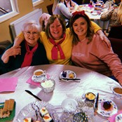 Who doesn't love a good tea party? Just another event we put on to help reduce isolation.