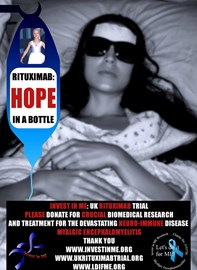 Rituximab Fundraising Poster painstakingly created by patient with severe M.E.