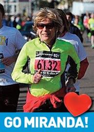 Miranda Martin running in the Brighton half Marathon 2013