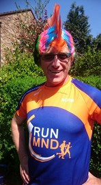 norm with a mohican and his #runmnd teeshirt