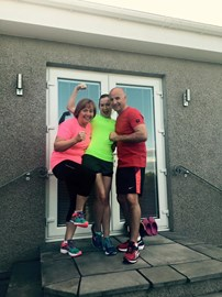 Kimberly, Greig & Naomi getting ready for their 10 challenges