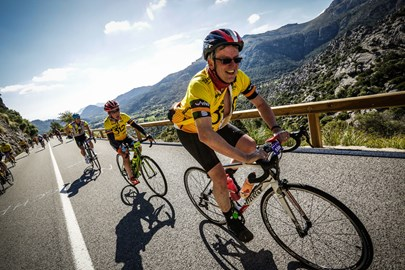 Traing in April on closed roads in Majorca