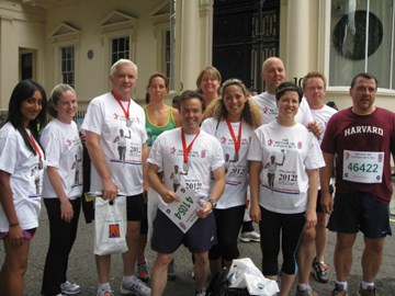 The team after the run