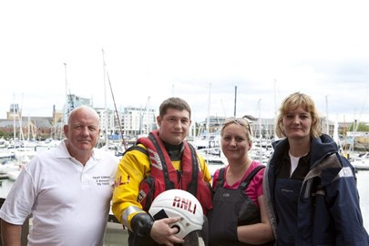 Training weekend catch up with the RNLI. Photo Will Ablett