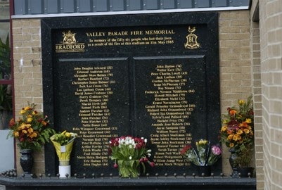 In memory of 56 supporters who never returned home from the game