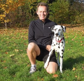 Martin with his spotty training partner