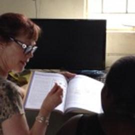 Janice teaching phonetics