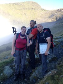 Just before the summit on Snowdon