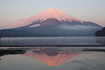 Mount Fuji, at the finish line