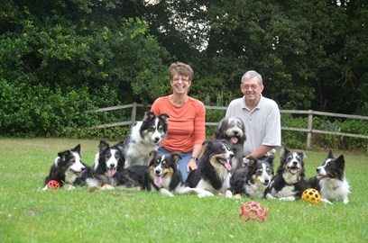 Taken in 2013 when I was pain free.....Me, John and our lovely dogs