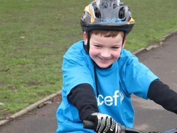 Charlie on his bike...