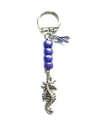 Epilepsy Awareness Seahorse Keyring handmade by Tia's Treasures