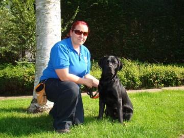 Marinda + Dexter, training Guide Dog