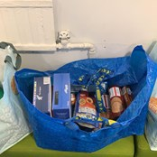 Food parcels ready to go!