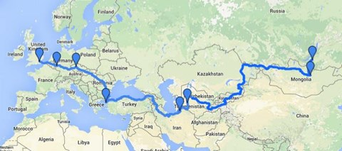 The Un-Route.  IOM to Mongolia via Europe, Iran and Central Asia.