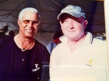 A cricket legend. And Sir Gary Sobers