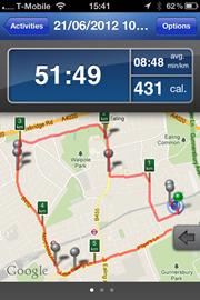 Today's run was longest stretch so far