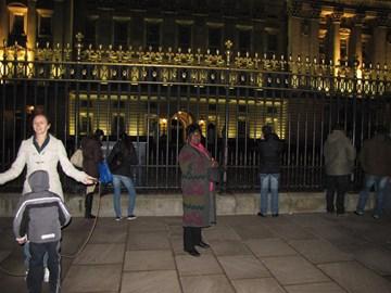 Skipping outside Buckingham Palace!