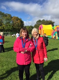 Margaret and Elaine completing the JDRF walk. A great effort once again.