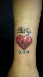 Kayley Massey tattoo on her arm 30/6/14