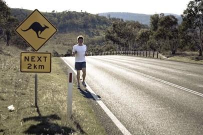 training whilst in Jindabyne, Australia.