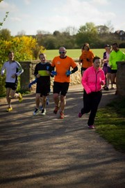 In action at Mansfield parkrun