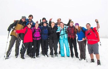 At the top of Ben Nevis - June 2013