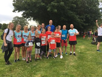 Some of Team Robster at Colshaw Hall 10k
